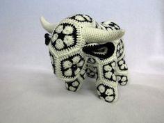 African Flower Crochet Cow Bull by kamidake on Etsy
