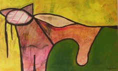 opportuner kater, Acryl auf Leinen, 50x80 cm, 2012 Painting, Photography, Linen Fabric, Painting Art, Art, Paintings, Paint, Draw