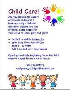 childcare in middle hainesville