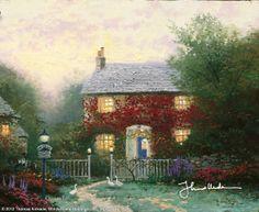 Pye Corner Cottage by Thomas Kinkade  (July 1991)
