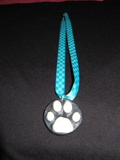 collier patte de chat (by copine) - sautoir et collier matinée - lylycreation - Fait Maison