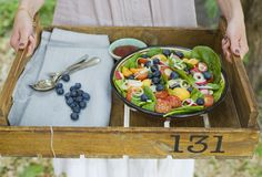 Blueberry and Apricot Super Salad