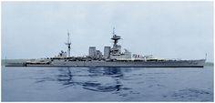 HMS Hood Spanish Civil War Neutrality Stripes