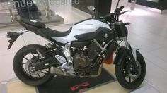 Just launched in South Africa #Yamaha MT-07 on display @Sandton City for @JapanWeek_SA
