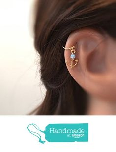 Opal Cartilage Earring - Anchor Cartilage Hoop - Helix Ring - Cartilage Piercing http://www.amazon.com/dp/B01B33THG0/ref=hnd_sw_r_pi_dp_Gs4Pwb060WFJP #handmadeatamazon