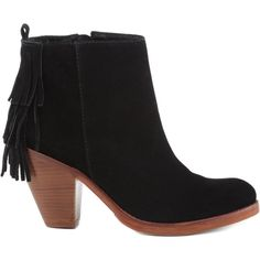 KAUAH SCHUTZ (745 BRL) ❤ liked on Polyvore featuring shoes, boots, ankle booties, fringe, fringe booties, high heel ankle boots, leather boots, short fringe boots and fringe bootie