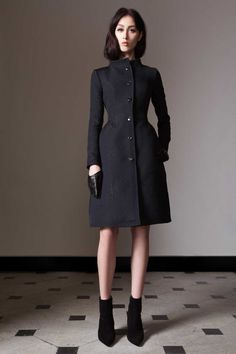 It appears that Kate Middleton wore this black winter coat from Temperly London's pre-fall collection on November 12th, 2016  Temperley London 'Callas' black evening coat