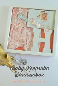 baby shadow box - a sweet way to keep this newborn moments