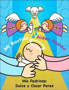 Invitaciónes de distroller para bautizo - Imagui