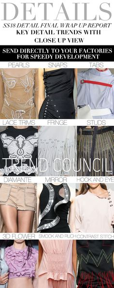 S/S 2018 womens key details trends