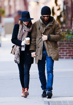 """""""Emma Stone and Andrew Garfield out and about in New York City on December 29th, 2014."""""""