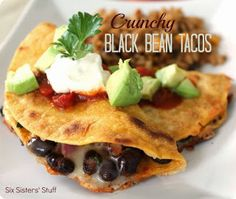 I Eat Good Real Food: Crunchy Black Bean Tacos
