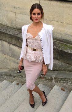 Olivia Palermo, Nina Ricci, Spring Summer Fashion Trends 2014, Pink Fashion Trend, Ladylike