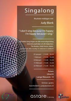 🎤 We gaan zingen! Vijf middagen in hartje Utrecht onder leiding van Singer-songwriter Judy Blank. Meedoen? Meld je aan via judy@astare.nl