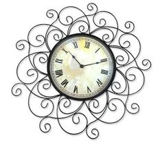 Stylish Wrought Iron Design Decorative House Wall Mounted 30cm Face Clock