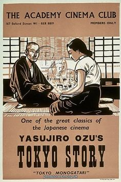 Academy Cinema poster for Yasujiro Ozu's 'Tokyo Story'