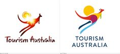 Tourism Australia Logo, Before and After