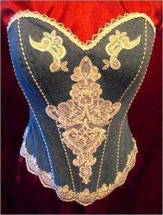 denim wedding dresses | Denim & Lace Scarlett Wedding Corset - Wedding Dresses