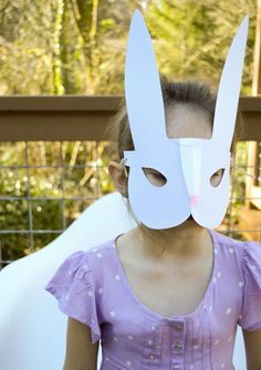 DIY Animal Costume : DIY  Printable Bunny Mask  :  DIY Halloween