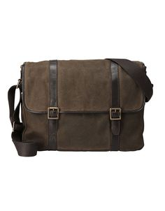 918b164f5194c Fossil Estate Calvary Twill East West Messenger Bag Men - All Accessories -  Macy s