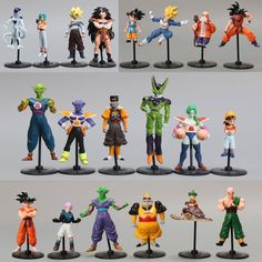 20pcs/lot Dragon Ball Z Figure GT Action Figures Crazy Party Cell/Freeza/Goku PVC Action Figures Collectible Model Gift Toy