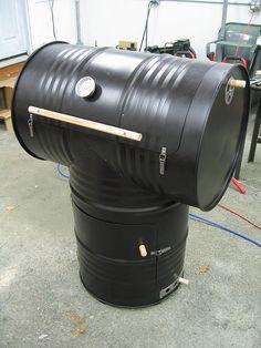 DIY 55-gallon drum smoker