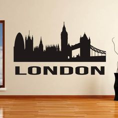 City Wall Stickers, Interior Walls, Adhesive Vinyl, Your Design, Skyline, Colours, London, Wall Art, Beautiful