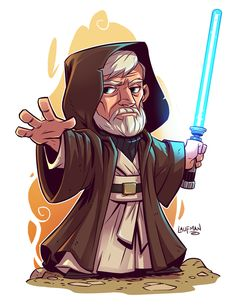 Chibi Obi-Wan Kenobi by Derek Laufman