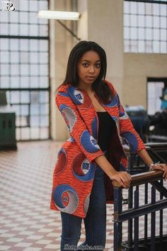 NEW IN: Ankara jacket African clothing for women African African Fashion Ankara, African Fashion Designers, African Print Dresses, African Print Fashion, African Dress, African Ankara Styles, African Clothes, Africa Fashion, African Attire