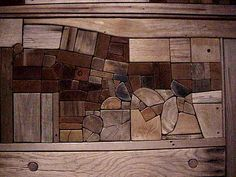 Wood Collage by Native Modernist George Morrison by mharrsch, via Flickr