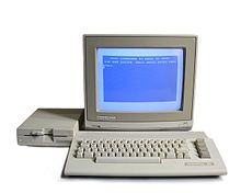 Commodore system with floppy drive and RGB monitor. Computer Fan, Home Computer, Computer Setup, School Computers, Old Computers, Game Boy, 8 Bit, Remember The Time, Disk Drive
