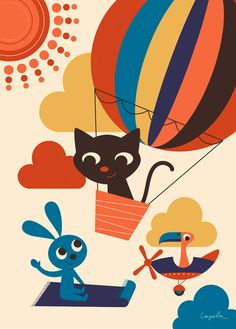 Up in the air. Poster by Ingela P Arrhenius. http://www.ingelaparrhenius.com/