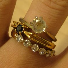 The bottom ring is my wedding ring!