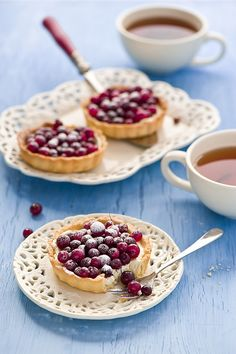 Cranberry Tarts with Tea