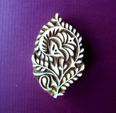 Hand Carved Floral Wood Stamp Indian Print Block (FL20) by PrintBlockStamps on Etsy