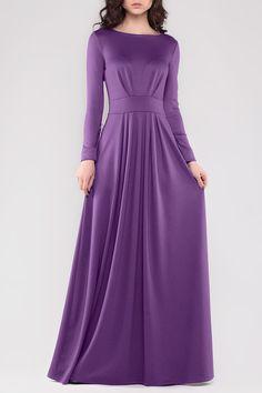 Длинное Фиолетовое Платье REBECCA TATTI. Чтобы купить, нажмите на картинку.