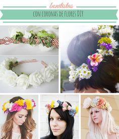 10 coronas de flores DIY para una primavera bonitista
