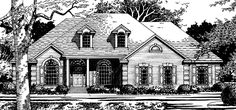 Country House Plan with 2672 Square Feet and 4 Bedrooms(s) from Dream Home Source | House Plan Code DHSW74046