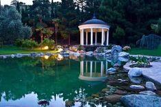 gartengestaltung wassergarten gartenpavillon bauen