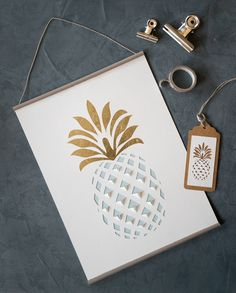 Affiche ananas découpé                                                                                                                                                                                 Plus