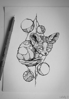 Tattoo design : Baby fennec on Behance