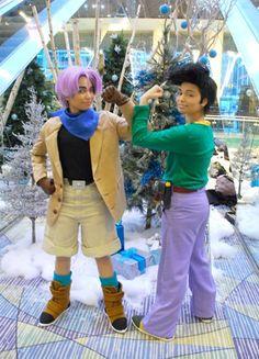 Anime: Dragon Ball GT. Characters: Trunx & Son Gotan. Cosplayer: Andree Nicole Warner 'aka' Technoranma & Alex Warner 'aka' Glay. (Quantum Destiny). From:  Ontario, Canada. Event: Anime Nort 2009.