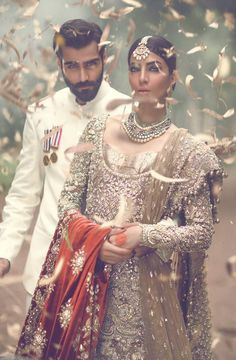 Pakistan Couture | Designer: The Jasmine Court by Elan.Photographer: Abdullah HarrisModels: Rabia Butt & Hasnain Lehri