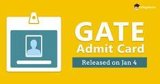 Gate Admit Card Exam Calendar, Entrance Exam, Gate, Cards, Portal, Gates, Playing Cards