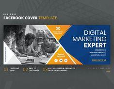 Facebook Cover Template AI, EPS Facebook Cover Template, Web Development, Digital Marketing, Web Design, Templates, Design Web, Stencils, Vorlage, Website Designs