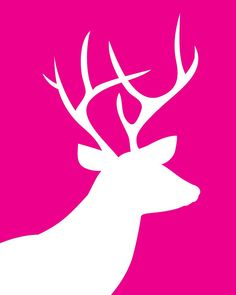 Reindeer silhouette, great for decor in any color background, use for Josh's room. Noel Christmas, Pink Christmas, Christmas Ornaments, Christmas Colors, Silhouette Art, Silhouette Projects, Reindeer Silhouette, Deer Art, Xmas Cards