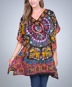 Look what I found on #zulily! Brown & Blue Abstract Elephant Tunic by Ananda's Collection #zulilyfinds