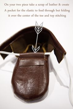 Little Leather Moccasin Tutorial and Free Pattern--shoes for the kids for the RenFest?