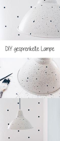 DIY gesprenkelte Lampe. Ikea Hack. DIY Deko. Deckenlampe selber machen.