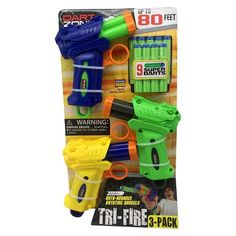 Dart Zone® Tri - Fire Blasters - 3 Pack : Target